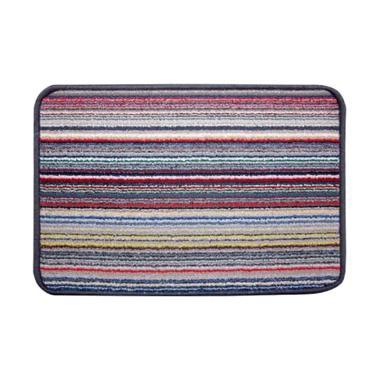 Classic Carpets Stripped Anti Slip Keset - Grey 02 [40 x 60 cm]
