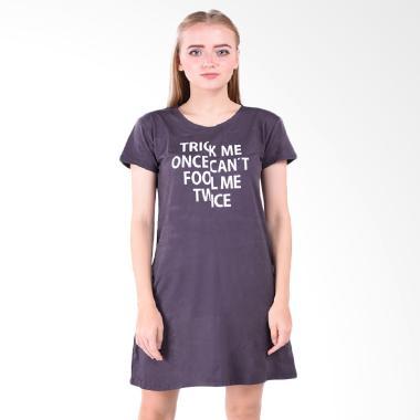 LEMONE 610SS601319 Baju Dress Kaos Wanita Premium