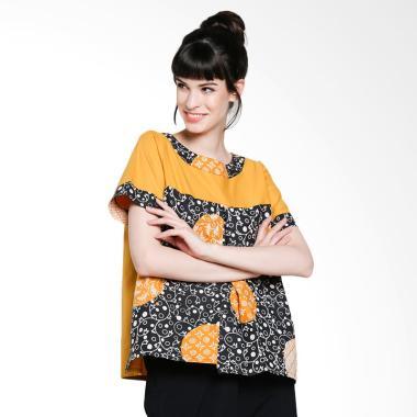 Blossom Belle Balance Woman Batik Blouse - Yellow