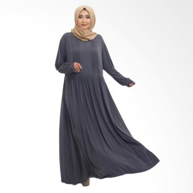 Gamis Abaya Jersey Dress Muslimah Syar'i Hamil - Grey