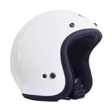 Zeus ZS-385 Helm Half Face - White (B)