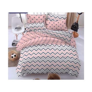 BC Set Ziggy Polkadots Pink cr Motive Cotton Set Sprei dan Bedcover