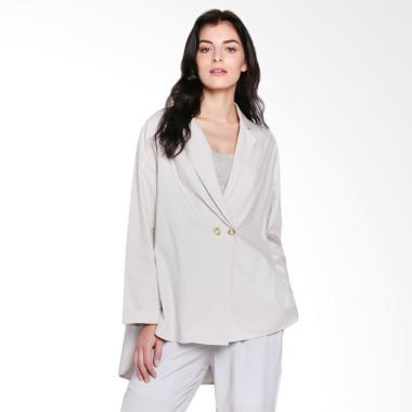 Shopatvelvet SAVBLO002 Unlined Blazer - Grey
