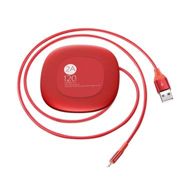 Baseus Super Thin Cable Lightning Kable Data for iPhone - Red [1.2 m]