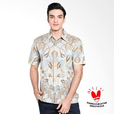 Serendipity Clothing Simple Brown Kemeja Batik Pria