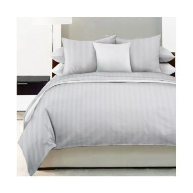 King Rabbit Motif Garis Gaultier Set Sprei - White