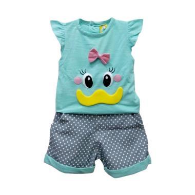 STB Kids CB 245158 Setelan Baju Bayi Perempuan - Green