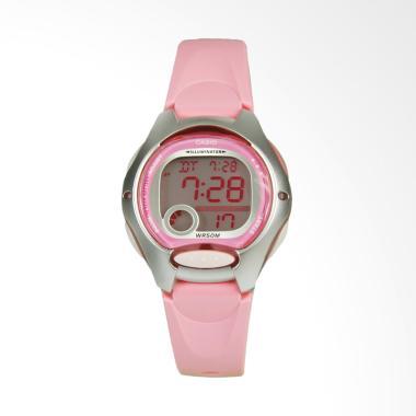 CASIO LW-200-4BVDF Digital Multifunction Jam Tangan Wanita - Pink