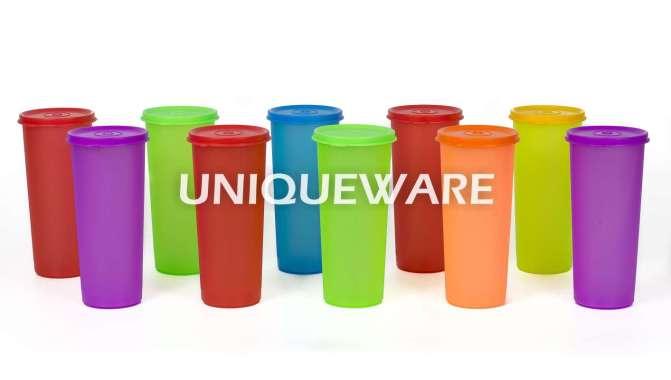 harga [INDRA HOUSEWARE]SET GELAS TUTUP PLASTIK isi 24 pcs 475ML/TUMBLER PLASTIK Random Blibli.com