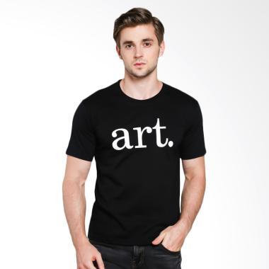 JCLOTHES Tumblr Tee Art Kaos Distro T-Shirt Pria - Hitam