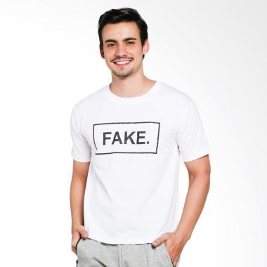 JCLOTHES Kaos Pria Kaos Distro Tumblr Tee Fake - Putih
