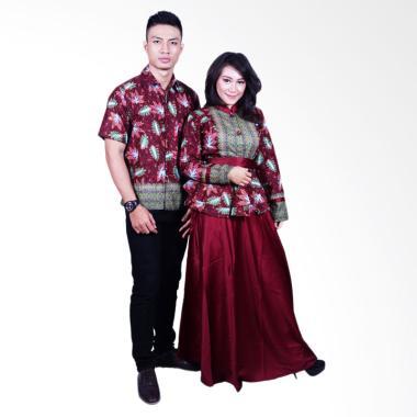 Batik Putri Ayu Solo SRG600 Sarimbit Batik Couple - Merah