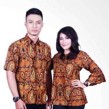 Batik Putri Ayu Solo SRB602 Batik S ... ju Batik Couple - Cokelat