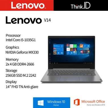harga LENOVO V14-IIL i5 1035G1, 2x4GB, 256GB NVMe, 14
