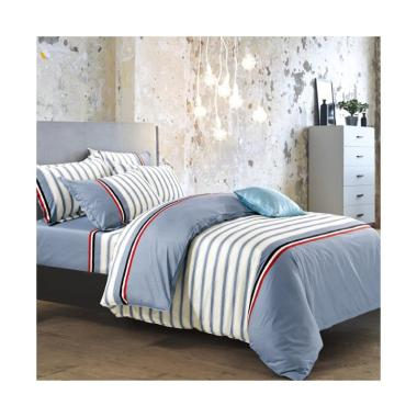 Beglance Cotton Ethan Bed Sheet Set Sprei - Multi