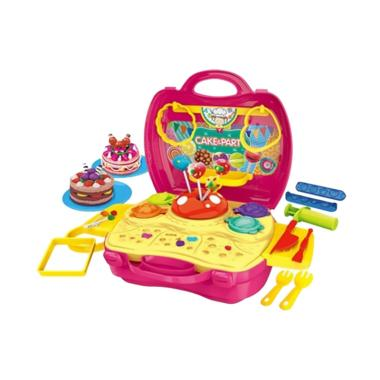 Bowa Cake and Party Dough Dream Suitcase Set mainan Anak - Pink