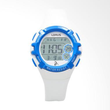 Lorus Silicon Jam Tangan Pria - White Blue [R2393LX9]
