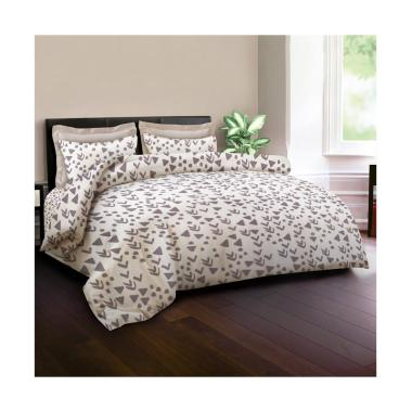 King Rabbit Motif Eros Set Sprei - Krem