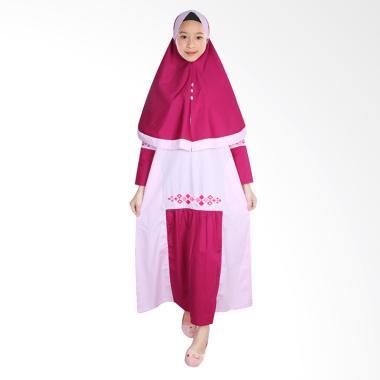 FAYRANY FGW-009A Baju Gamis Anak - Merah Muda