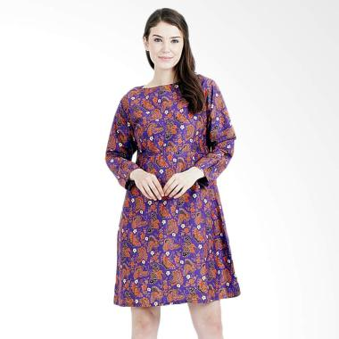 Latusca Dress Batik Wanita - Ungu