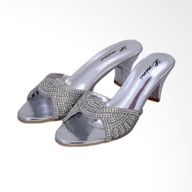 L-Nino LN2711 Sandal Wedges Wanita - Silver