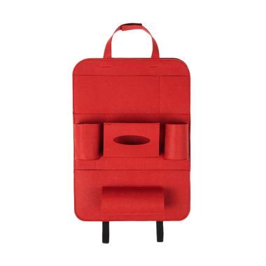 Homestuff Car Seat Organizer Tas Mobil Multifungsi - Red