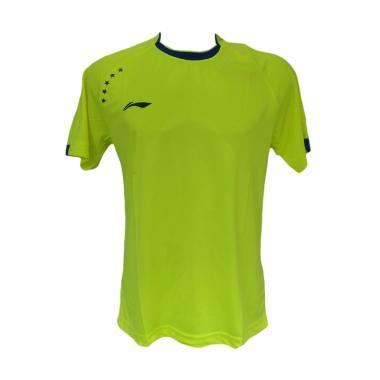 Li-Ning Kaos Badminton Pria - Stabilo Green [L-6023A]