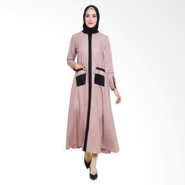 Allev Mufliha Abaya Dress Muslim Wanita - Mocca