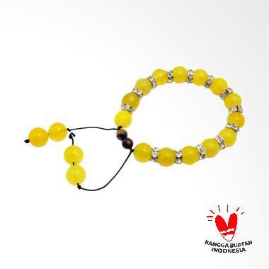 Vee Gelang Rumbai Batu Giok Gelang Terapi Kesehatan - Kuning