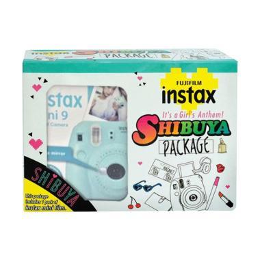 Fujifilm Instax Mini 9 Shibuya Pack ...  Kamera Pocket - Ice Blue