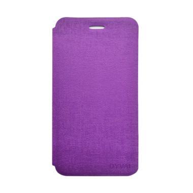 DYVAL Flip Cover Casing for Advan Vandroid i5C Plus - Ungu