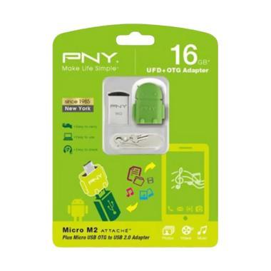 PNY Micro M2 Flashdisk [16 GB/ USB2.0] + OTG Adapter Robot Green