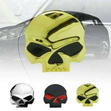 harga Import emblem skull besar tengkorak metal aksesoris mobil motor laptop Blibli.com