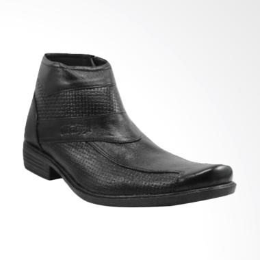 Handmade Kulit Premium PDL Sepatu Pantofel Pria - Hitam