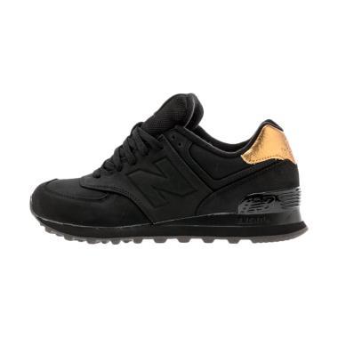 New Balance 574 Sepatu Olahraga Wanita - Black Gold [WL574MTC]