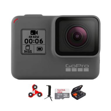 GoPro Hero 6 Combo 3 Way Deluxe 32 GB SpinIndo Action Camera - Black