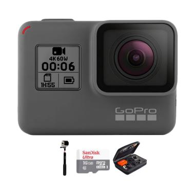 GoPro Hero 6 Combo Deluxe 32GB Action Camera - Black