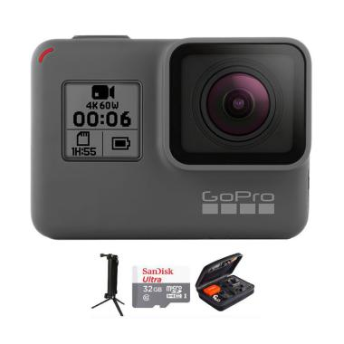 GoPro Hero 6 Black Combo 3 Way Deluxe [32GB]
