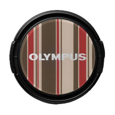 Olympus LC-37 PR 37mm Stripe Premium Lens Cap - Brown