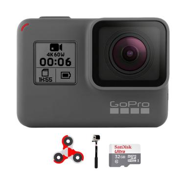 GoPro Hero 6 Combo Supreme 32GB SpinIndo Action Camera - Black