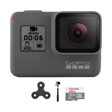 GoPro Hero 6 Combo Supreme 32GB Spin Action Camera - Black