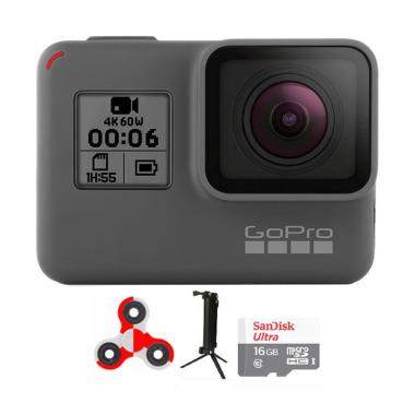 GoPro Hero 6 Combo 3 Way Supreme SpinIndo Action Cam - Black [16 GB]