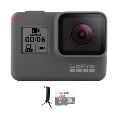 GoPro Hero 6 Combo 3 Way Supreme 16 GB Action Camera - Black
