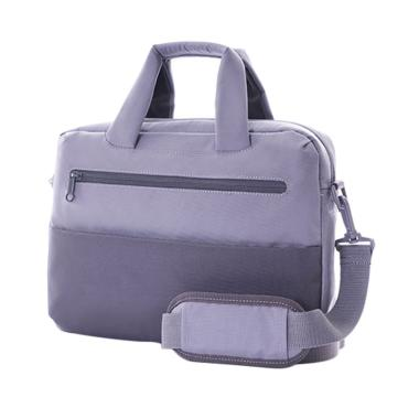 American Tourister Brixton Briefcase Tas Laptop - Grey Black [Size M]