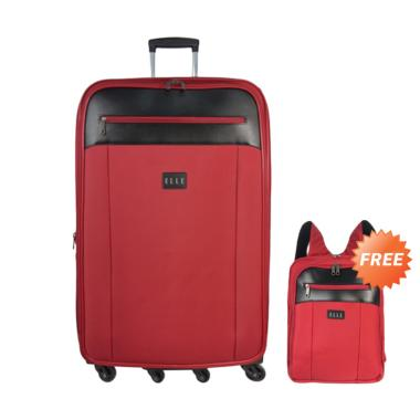 Elle TSA7206329-42 Tas Koper - Red [29 inch] + Free Backpack Unisex
