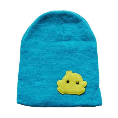Baby Beanie Bordir Motif Chick Kupluk Topi Bayi - Blue