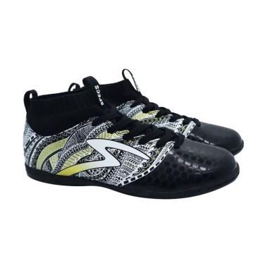 Specs Herritage In Sepatu Futsal - Black Gold White