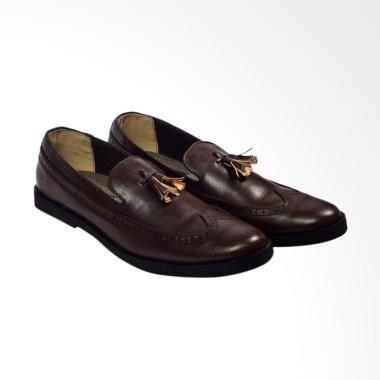 Giant Flames Tomio Formal Sepatu Loafer Pria - Dark Brown