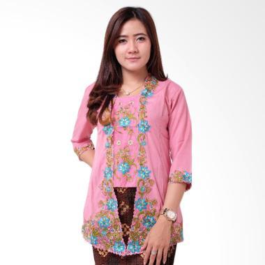 Batik Distro BA9117 Kutu Baru Renda 3-4 Kebaya Wanita - Pink