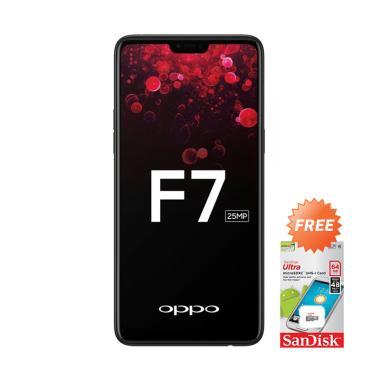 OPPO F7 Smartphone - Black [64GB/4GB] + Free Memory Card 64 GB